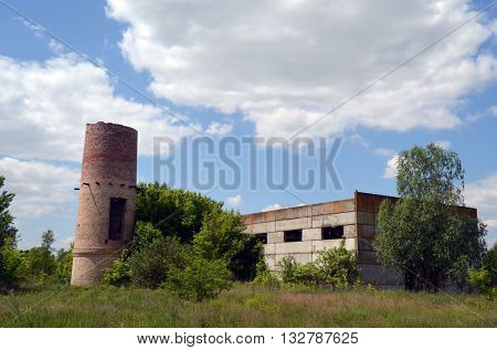 KIEV, UKRAINE - June 3, 2016: Abandoned industrial complex.June 3, 2016 Kiev, Ukraine