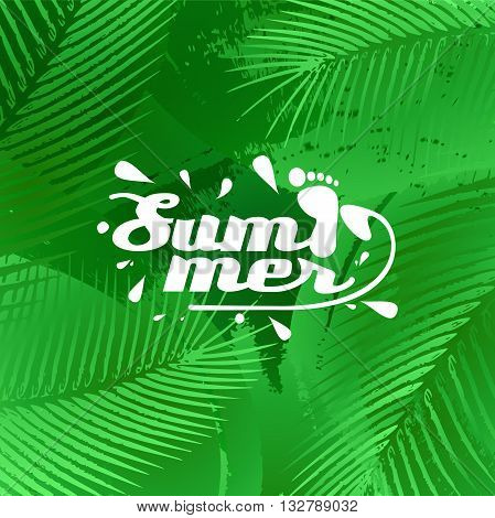 cool summer background in vector format eps10