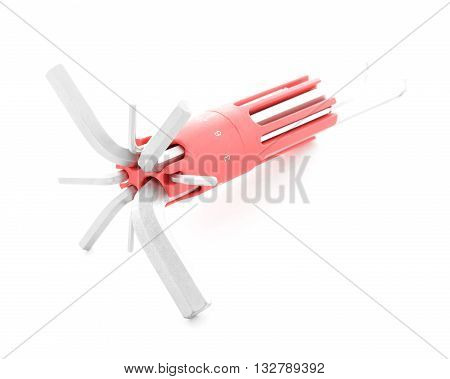 Allen key steel tool for screw isolated on white background