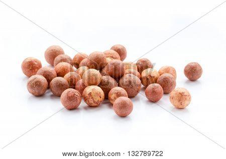 Cosmetics rouge balls isolated on white background