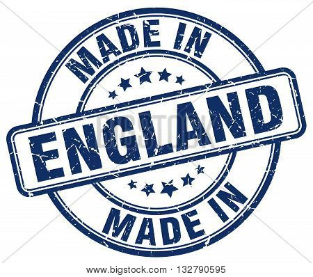 made in England blue round vintage stamp.England stamp.England seal.England tag.England.England sign.England.England label.stamp.made.in.made in.