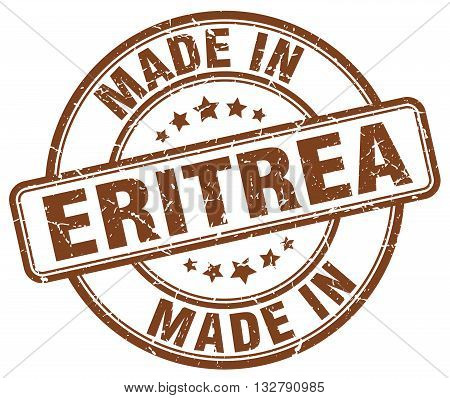 made in Eritrea brown round vintage stamp.Eritrea stamp.Eritrea seal.Eritrea tag.Eritrea.Eritrea sign.Eritrea.Eritrea label.stamp.made.in.made in.