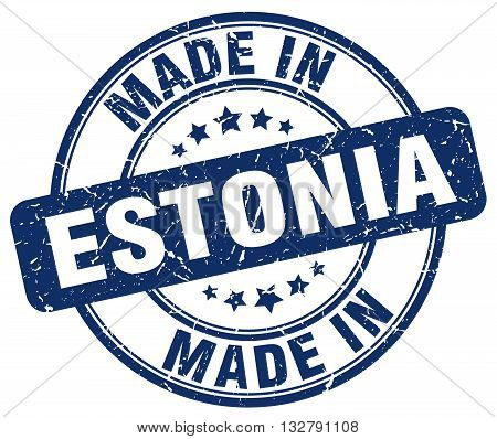 made in Estonia blue round vintage stamp.Estonia stamp.Estonia seal.Estonia tag.Estonia.Estonia sign.Estonia.Estonia label.stamp.made.in.made in.
