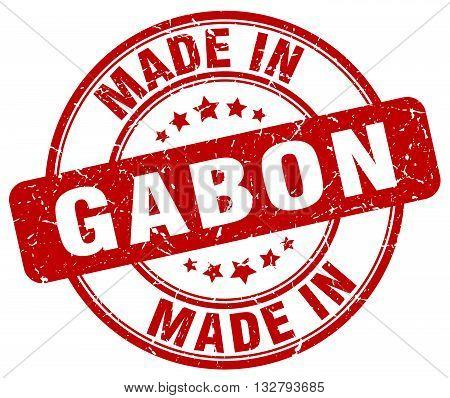 made in Gabon red round vintage stamp.Gabon stamp.Gabon seal.Gabon tag.Gabon.Gabon sign.Gabon.Gabon label.stamp.made.in.made in.