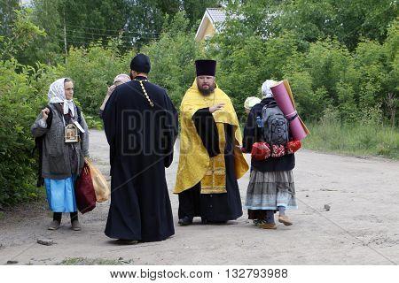 Religious Procession On The Vyatka