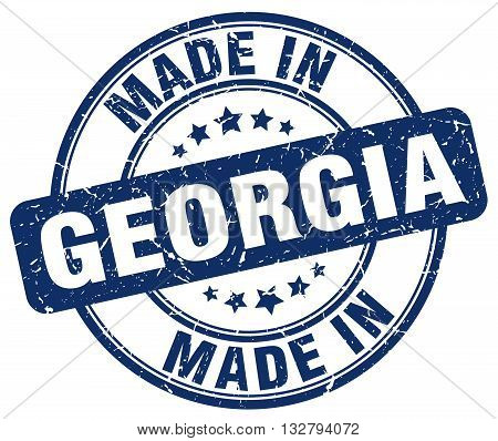 made in Georgia blue round vintage stamp.Georgia stamp.Georgia seal.Georgia tag.Georgia.Georgia sign.Georgia.Georgia label.stamp.made.in.made in.