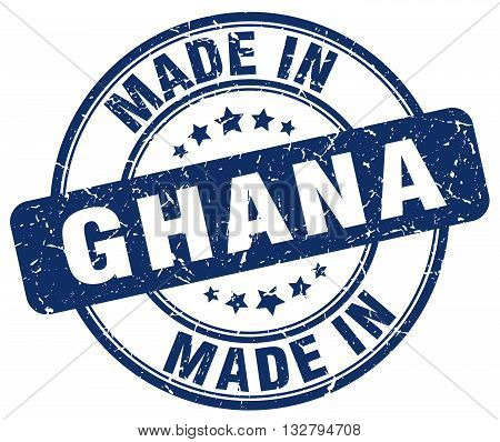 made in Ghana blue round vintage stamp.Ghana stamp.Ghana seal.Ghana tag.Ghana.Ghana sign.Ghana.Ghana label.stamp.made.in.made in.