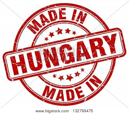 made in Hungary red round vintage stamp.Hungary stamp.Hungary seal.Hungary tag.Hungary.Hungary sign.Hungary.Hungary label.stamp.made.in.made in.