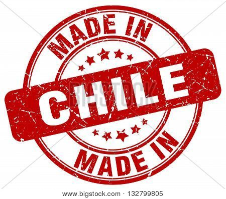made in Chile red round vintage stamp.Chile stamp.Chile seal.Chile tag.Chile.Chile sign.Chile.Chile label.stamp.made.in.made in.