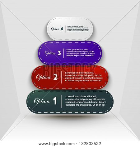 Options 1, 2, 3, 4 business design template options