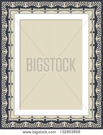 Vector vintage border frame vector illustration design