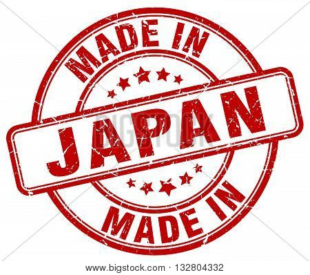 made in Japan red round vintage stamp.Japan stamp.Japan seal.Japan tag.Japan.Japan sign.Japan.Japan label.stamp.made.in.made in.
