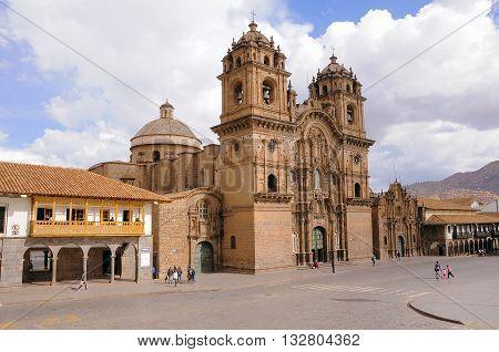 Central square of the city - Plaza de Armas Cuzco Peru