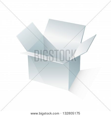 white box packaging. vector illustration on white backgrond