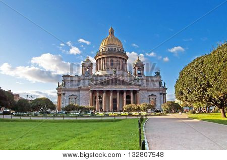 Views of Saint Petersburg. Saint Isaac's Cathedral, Russia