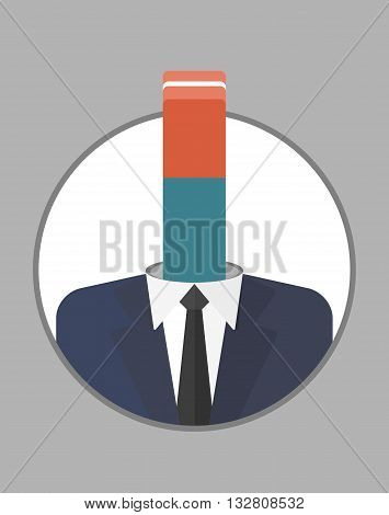 Businessman Character Icons With Eraser