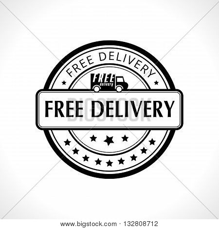 Black stamp with the text free delivery. Fast delivery. Free shipping.