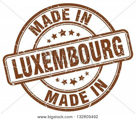 made in Luxembourg brown round vintage stamp.Luxembourg stamp.Luxembourg seal.Luxembourg tag.Luxembourg.Luxembourg sign.Luxembourg.Luxembourg label.stamp.made.in.made in.