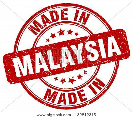 made in Malaysia red round vintage stamp.Malaysia stamp.Malaysia seal.Malaysia tag.Malaysia.Malaysia sign.Malaysia.Malaysia label.stamp.made.in.made in.