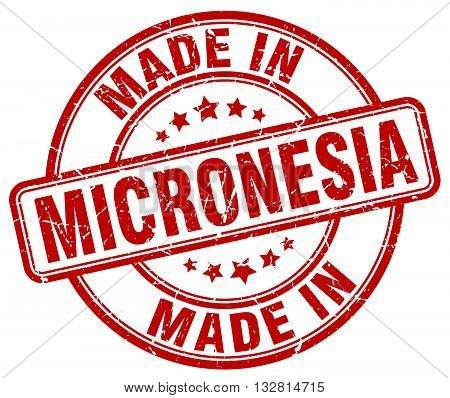 made in Micronesia red round vintage stamp.Micronesia stamp.Micronesia seal.Micronesia tag.Micronesia.Micronesia sign.Micronesia.Micronesia label.stamp.made.in.made in.