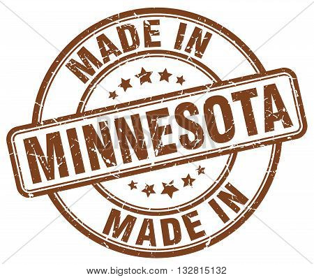 made in Minnesota brown round vintage stamp.Minnesota stamp.Minnesota seal.Minnesota tag.Minnesota.Minnesota sign.Minnesota.Minnesota label.stamp.made.in.made in.