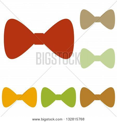 Bow Tie icon. Colorful autumn set of icons.