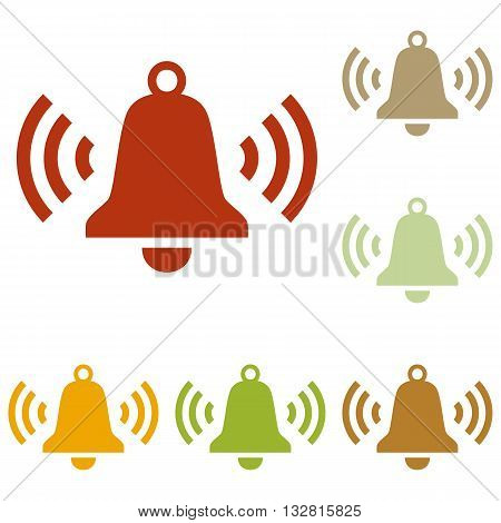Ringing bell icon. Colorful autumn set of icons.