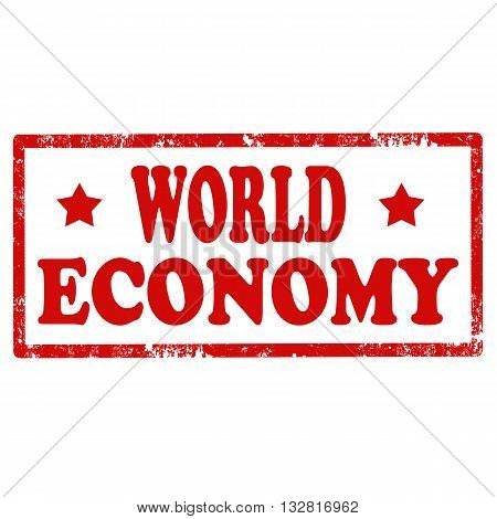 Grunge rubber stamp with text World Economy,vector illustration