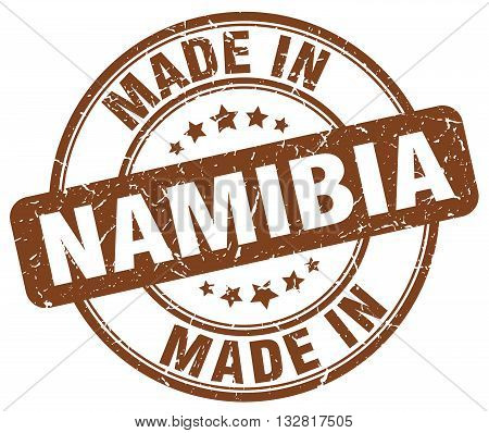 made in Namibia brown round vintage stamp.Namibia stamp.Namibia seal.Namibia tag.Namibia.Namibia sign.Namibia.Namibia label.stamp.made.in.made in.