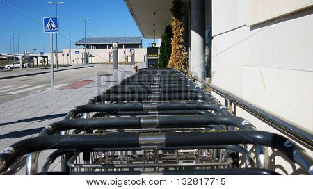 Carts to transport luggage during long trips.