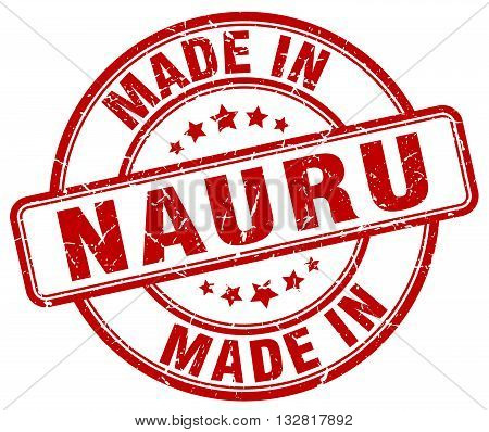 made in Nauru red round vintage stamp.Nauru stamp.Nauru seal.Nauru tag.Nauru.Nauru sign.Nauru.Nauru label.stamp.made.in.made in.