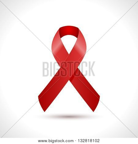 World AIDS Day Ribbon Icon design. AIDS Hope Ribbon. Vector illustration