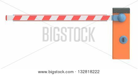 Barrier 3D rendering isolated on white background