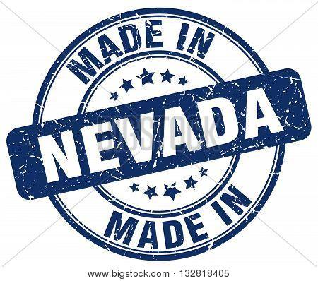 made in Nevada blue round vintage stamp.Nevada stamp.Nevada seal.Nevada tag.Nevada.Nevada sign.Nevada.Nevada label.stamp.made.in.made in.