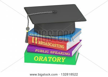 oratory education 3D rendering isolated on white background