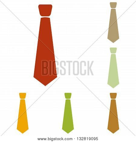 Tie sign illustration. Colorful autumn set of icons.
