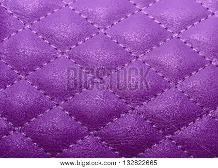 Quilted Texture Artificial Leather, Stitched With Thread For The