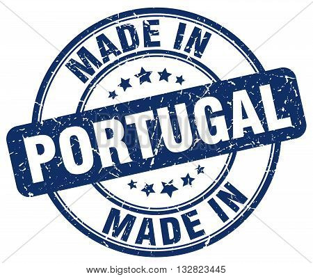 made in Portugal blue round vintage stamp.Portugal stamp.Portugal seal.Portugal tag.Portugal.Portugal sign.Portugal.Portugal label.stamp.made.in.made in.