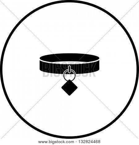dog collar with tag symbol