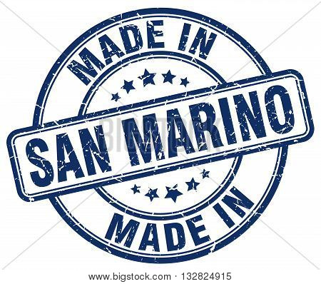 made in San Marino blue round vintage stamp.San Marino stamp.San Marino seal.San Marino tag.San Marino.San Marino sign.San.Marino.San Marino label.stamp.made.in.made in.