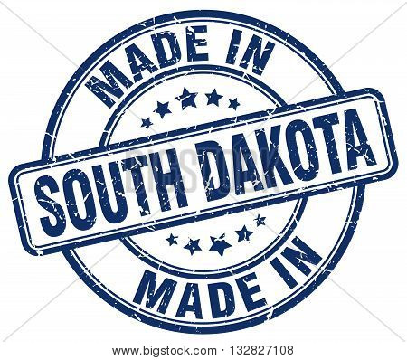 made in South Dakota blue round vintage stamp.South Dakota stamp.South Dakota seal.South Dakota tag.South Dakota.South Dakota sign.South.Dakota.South Dakota label.stamp.made.in.made in.