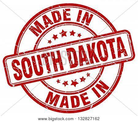 made in South Dakota red round vintage stamp.South Dakota stamp.South Dakota seal.South Dakota tag.South Dakota.South Dakota sign.South.Dakota.South Dakota label.stamp.made.in.made in.