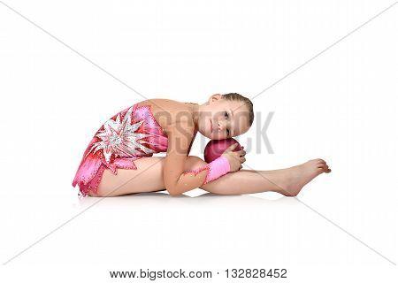 Girl Gymnast With Ball