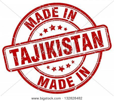 made in Tajikistan red round vintage stamp.Tajikistan stamp.Tajikistan seal.Tajikistan tag.Tajikistan.Tajikistan sign.Tajikistan.Tajikistan label.stamp.made.in.made in.