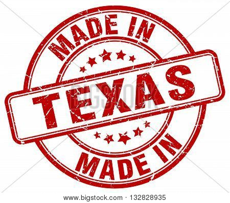 made in Texas red round vintage stamp.Texas stamp.Texas seal.Texas tag.Texas.Texas sign.Texas.Texas label.stamp.made.in.made in.