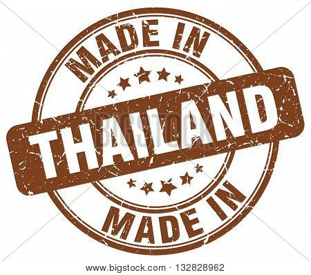 made in Thailand brown round vintage stamp.Thailand stamp.Thailand seal.Thailand tag.Thailand.Thailand sign.Thailand.Thailand label.stamp.made.in.made in.