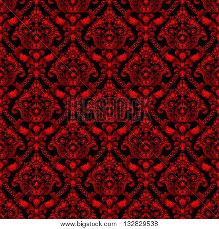 Red shining vintage seamless pattern background
