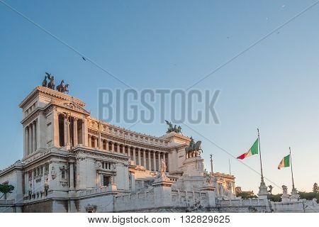 Monumento Nazionale A Vittorio Emanuele Ii In Rome  Italy