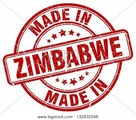 made in Zimbabwe red round vintage stamp.Zimbabwe stamp.Zimbabwe seal.Zimbabwe tag.Zimbabwe.Zimbabwe sign.Zimbabwe.Zimbabwe label.stamp.made.in.made in.