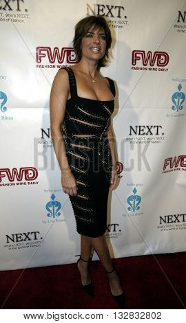 Lisa Rinna at the 2nd Semi Annual Fashion Wire Daily's event NEXT at Mondrian Hotel's SkyBar in West Hollywood, USA on October 25, 2004.